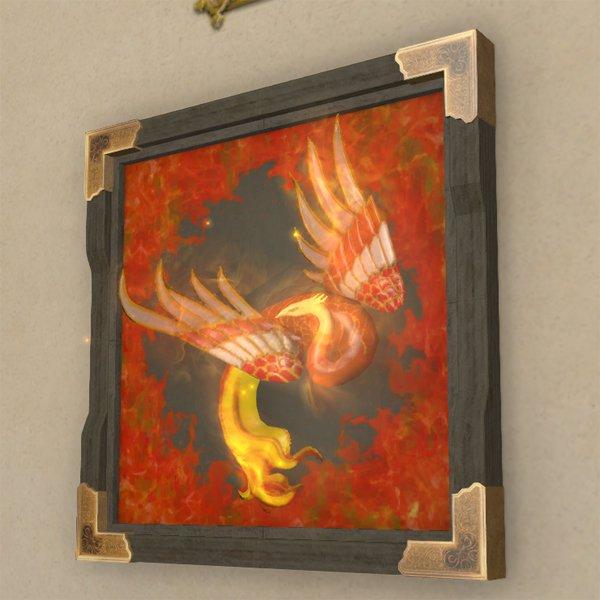 朱雀の壁掛彫刻